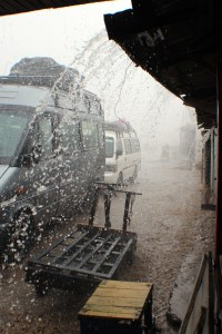 Rain on Taxi Brousse