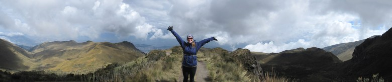 Enjoying the incredible view on the way down Rucu Pichincha