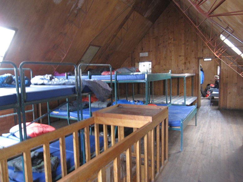 The loft we slept in upstairs in the Refugio