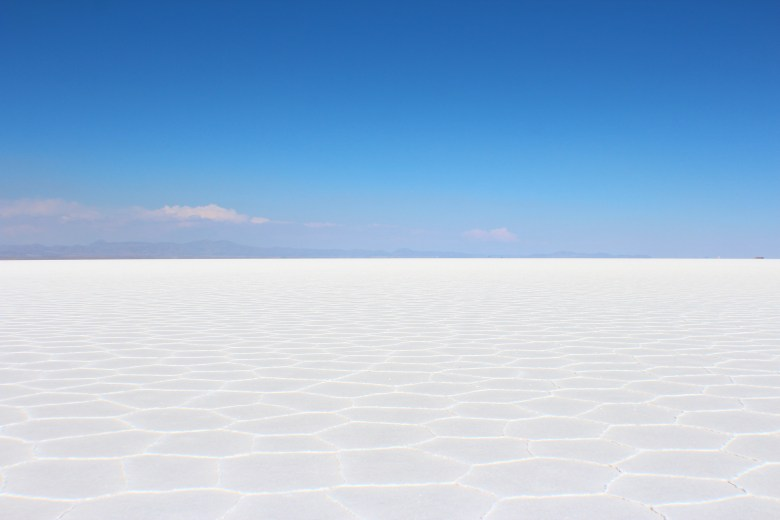 A view of 12,000 square kilometers of nothing but amazing-looking salt flats