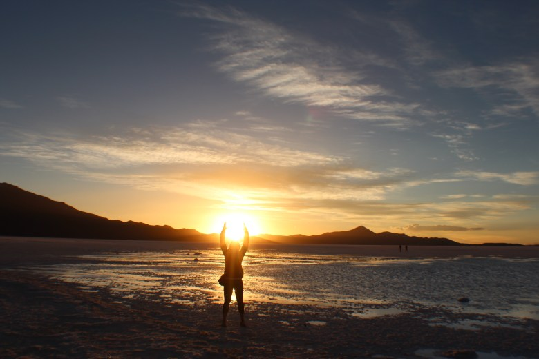 A spectacular sunset in Bolivia - an easy sixth reason to go visit such a fantastic country.