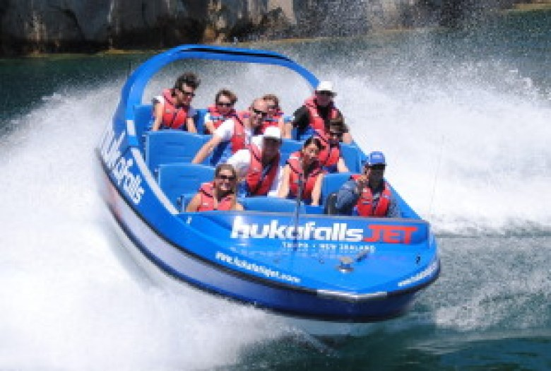 A stellar action shot of a 360 on the jet boat