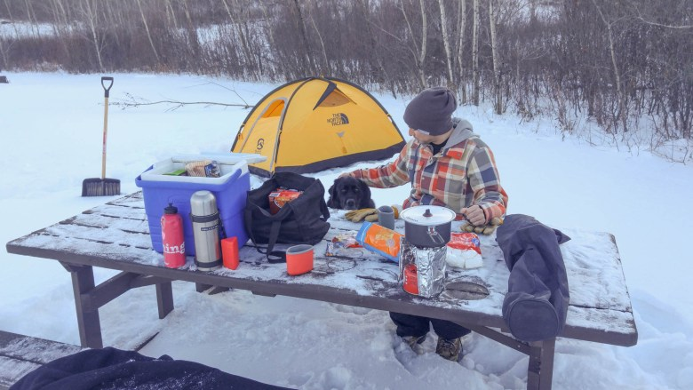 Winter Camping in Saskatchewan