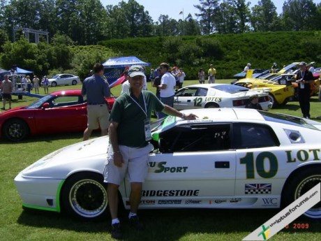 Posing with Doc Bundy on the Champion car X180R #10: