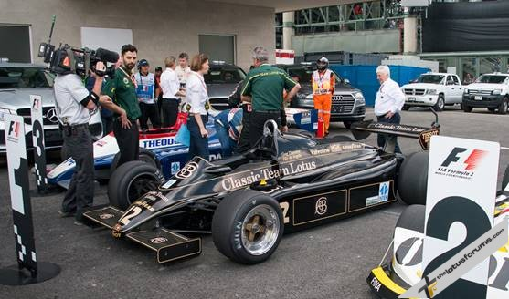 The victorious Mansell/De Angelis Lotus type 91 of Greg Thornton