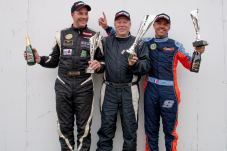 Race one podium (L-R) Packer, Williams, Georges