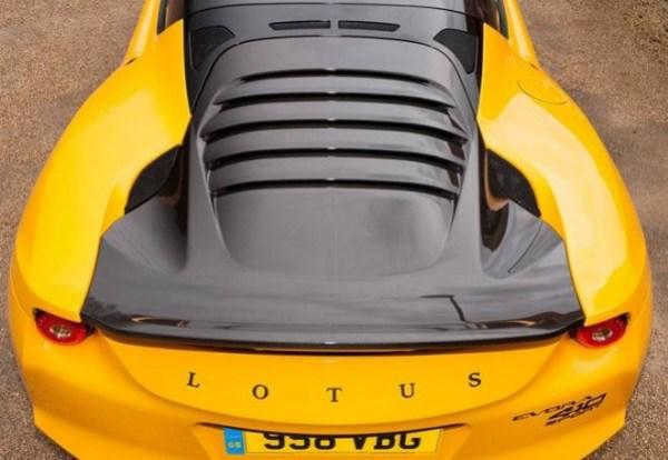 Evora Sport 410 carbon tailgate