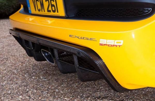 Exige Sport 350 carbon rear diffuser