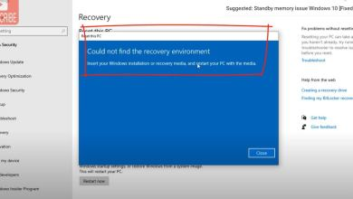 """Photo of How to Fix """"Could not find the Recovery Environment"""" in windows 10"""