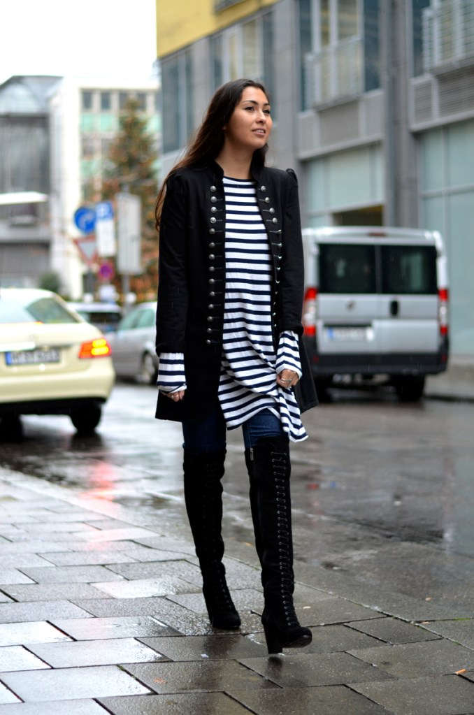 THE LACE UP OVER THE KNEE BOOTS