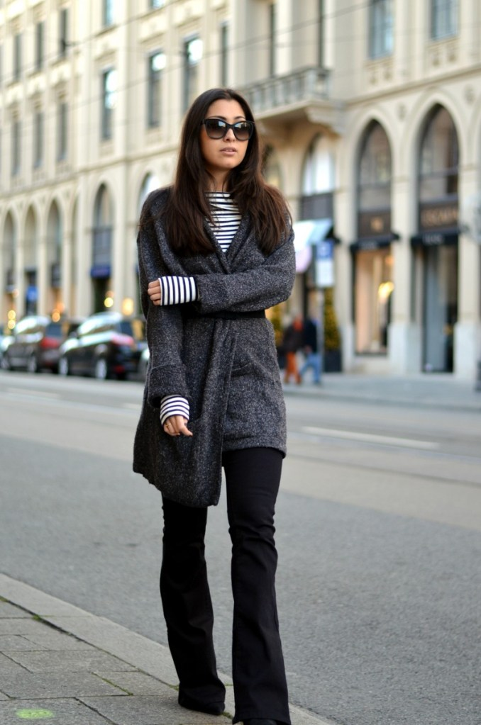 IN FAVOURITE PIECES: STRIPES AND KNIT