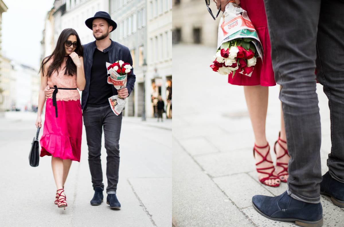 Valentinstag - Be My Valentine - Couple Shooting - Streetstyle - Munich - German Fashionblogger - Annie P - Romantic Look - Ootd - Lookbook - Stylish Couple - München - H&M - Zara - Vintage Hermés