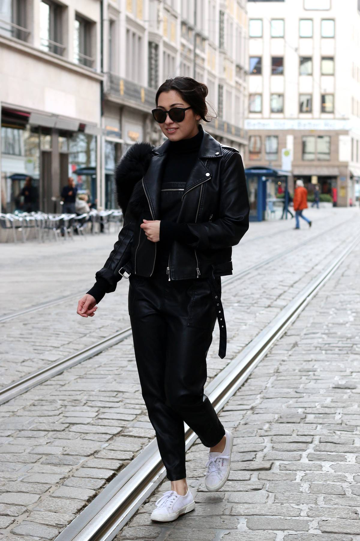 THE BLACK LEATHER OVERALL