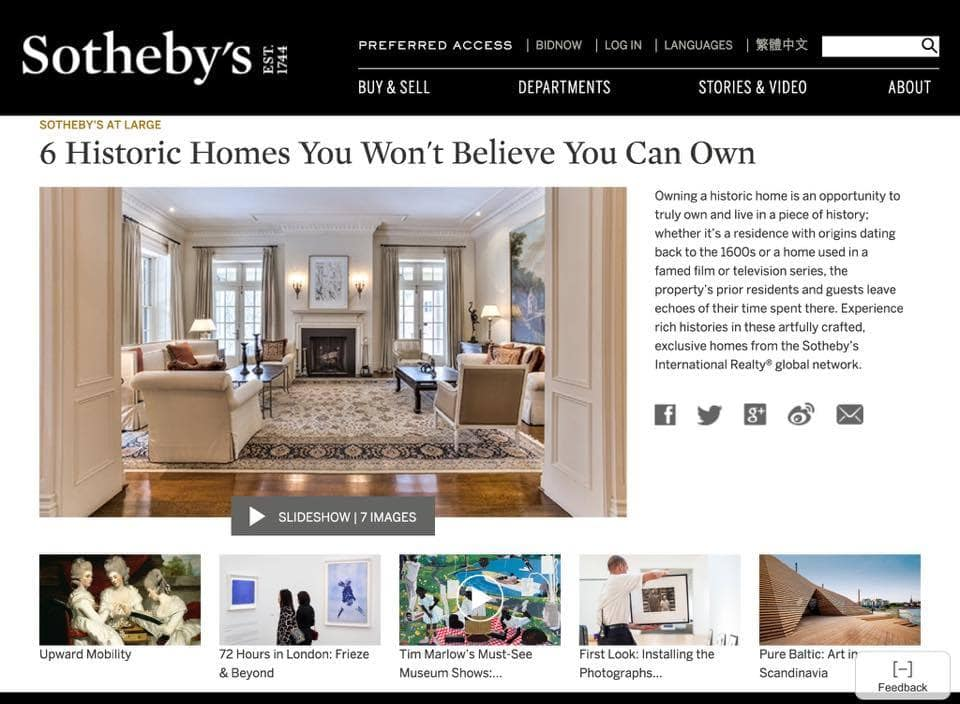 Sothebys Historic Home Marketing Agnets that sell historic homes