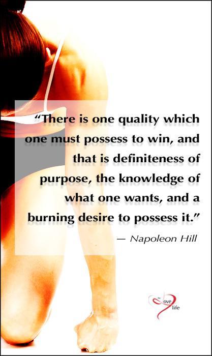 motivational meme burning desire Napoleon Hill