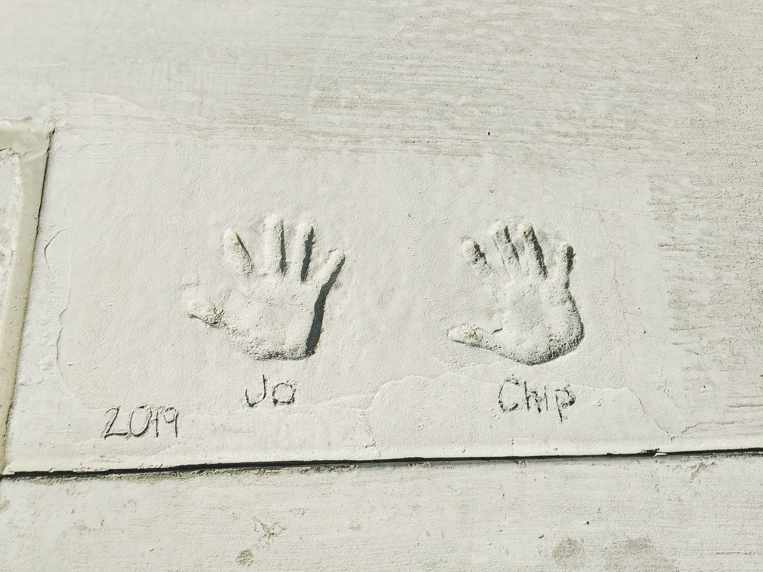chip and joanna gaines concrete handprints