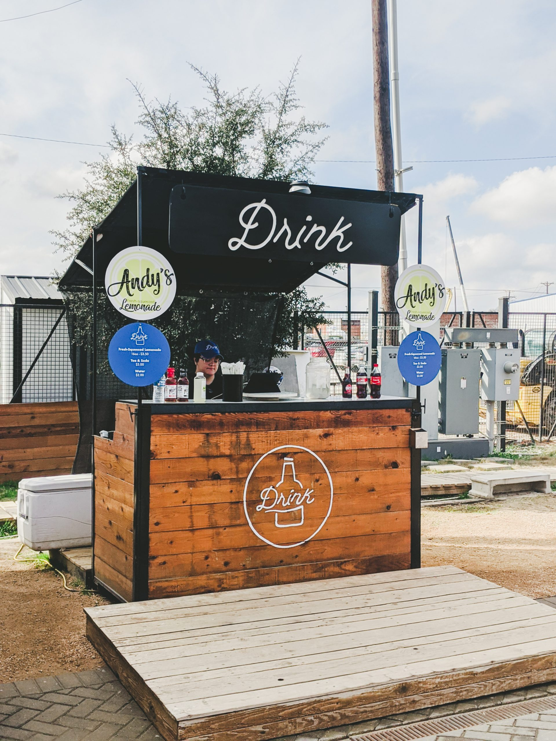 drink cart at magnolia silos
