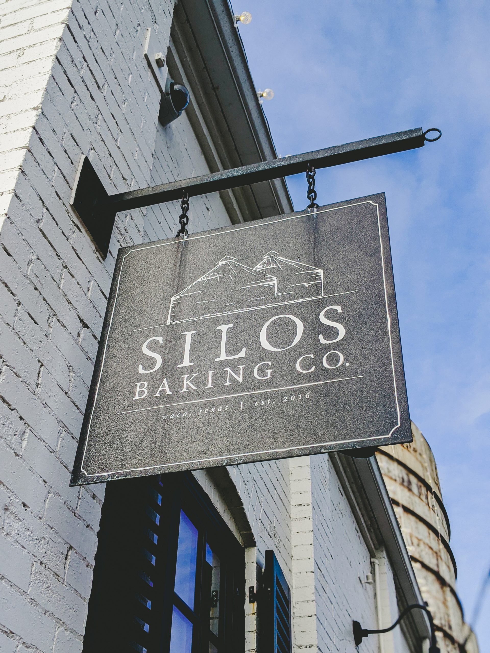 magnolia silos baking co. sign
