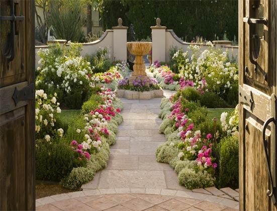 Exemplo de um jardim bem mantido