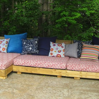 Bohemian Pallet Patio Couch