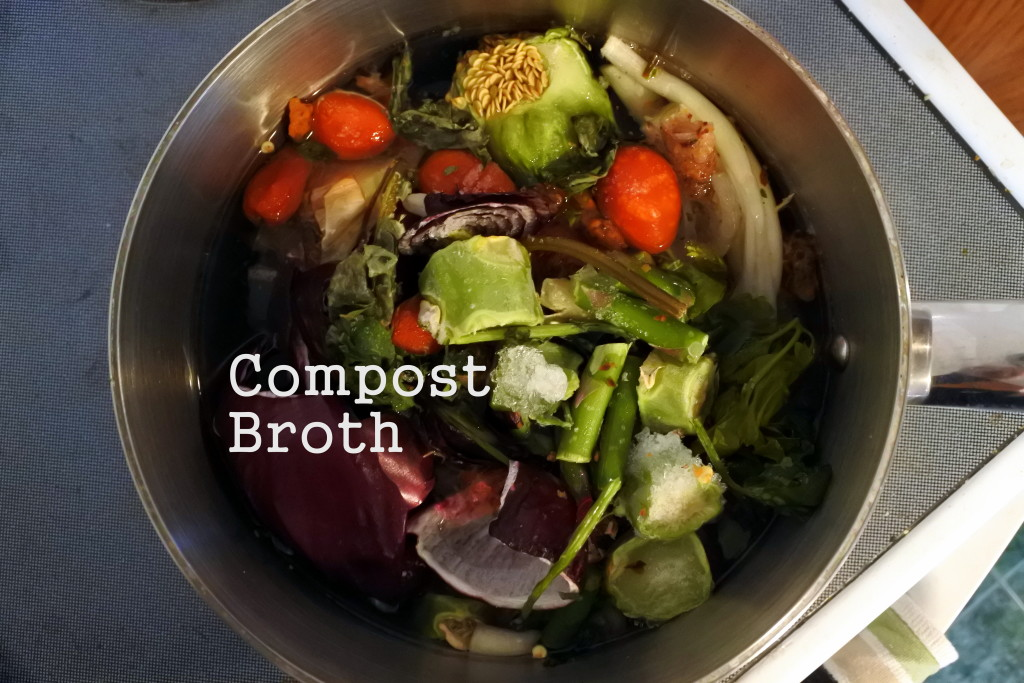 compost homemade soup broth Ottawa sustainable vegan food waste