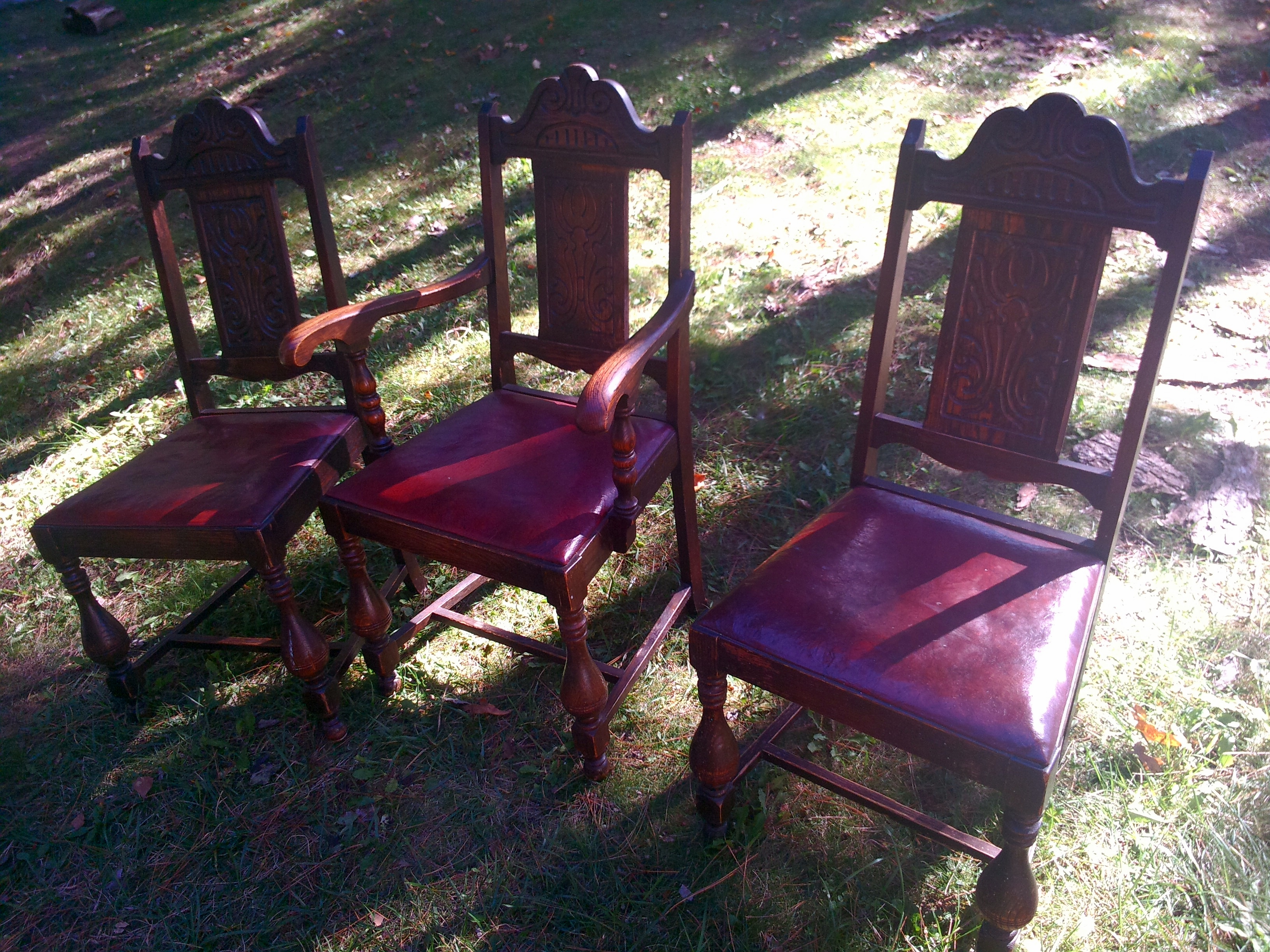 mahogany wood chairs makeover upcycle ottawa ontario refinish vintage