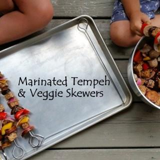 Marinated Tempeh & Veggie Skewers