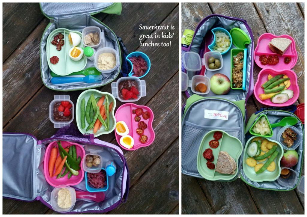 sauerkraut healthy kid lunches recipes ottawa foodie vegan vegetarian fermented food gut health probiotics zero waste