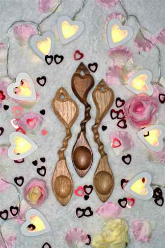 Trio of Spooning Lovespoons
