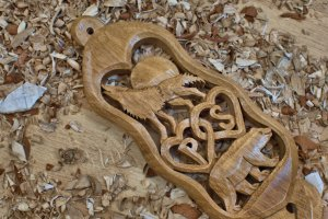 A Bespoke lovespoon in Oak