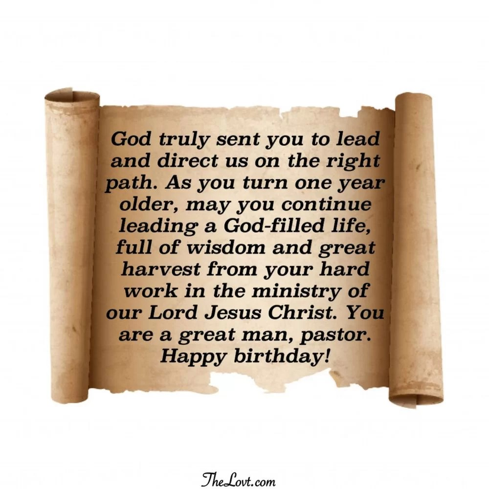 Best Birthday Wishes For Pastor The Blessed Guide Thelovt