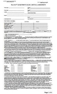 Landlord Apartment Lease Al Agreement At Essential Forms Page
