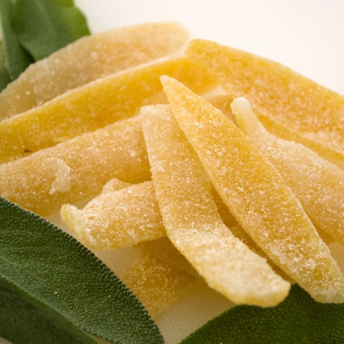 Candied Lemon Peel and Fresh Sage
