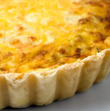 Baby Leek, Cheddar & Rosemary Tart, Hot from the Oven