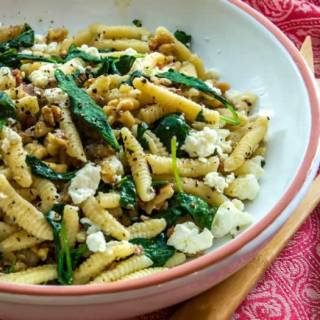 Ricotta Cavatelli with Toasted Walnuts & Bitter Greens | LunaCafe