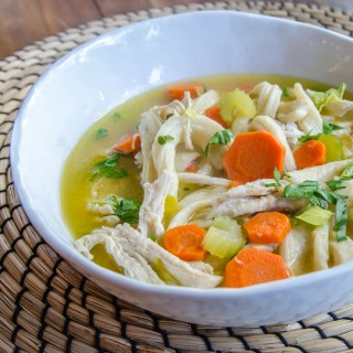 Grandma Mary's Chicken Soup with Chewy Egg Noodle Dumplings