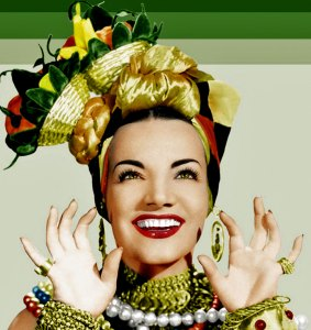 Carmen Miranda looks like how I feel when I have rum on the brain