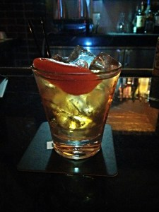 A beautiful Old Fashioned served up at Half & Half at the Hudson Hotel