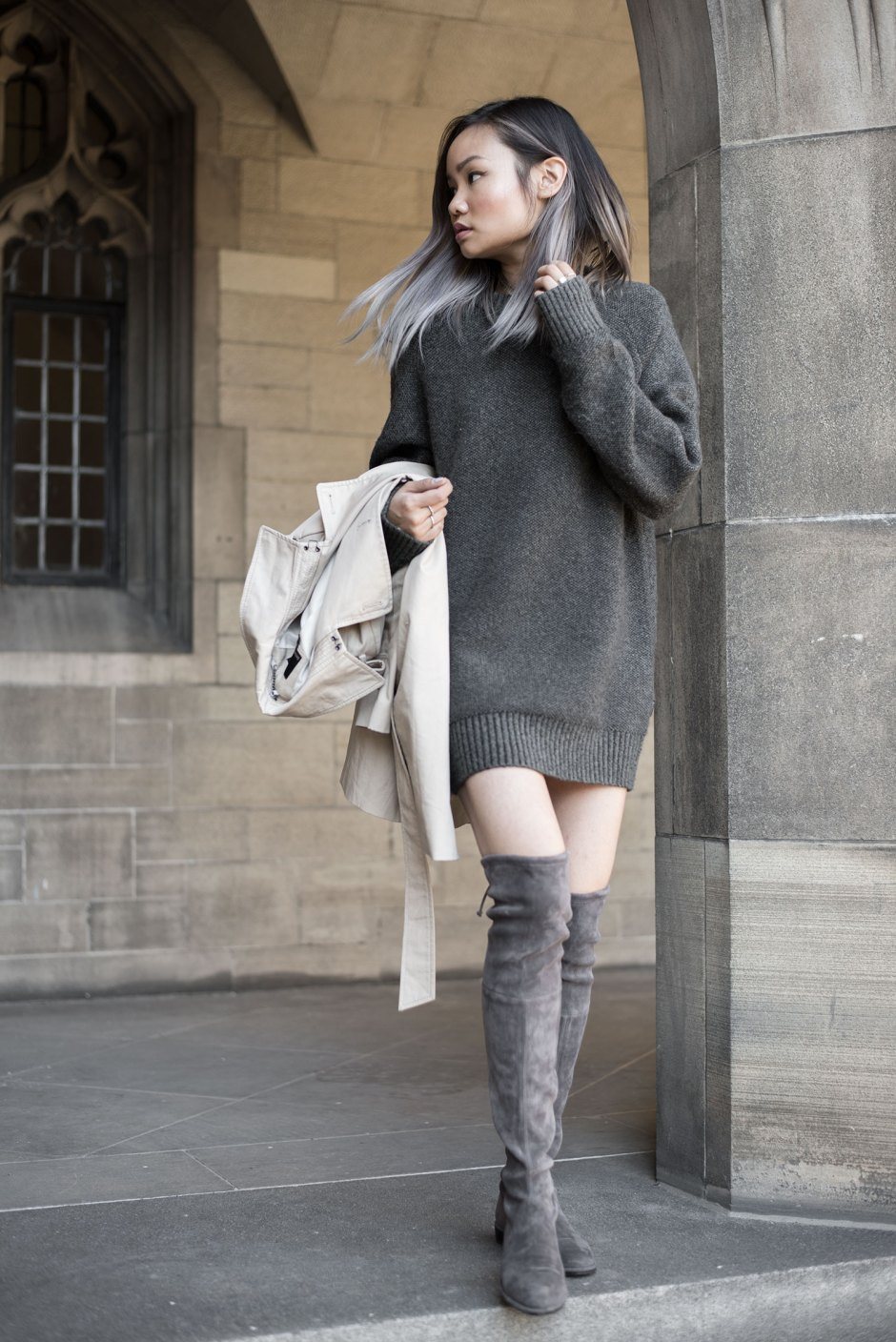 Borrowed From the Boy: The Sweater Dress