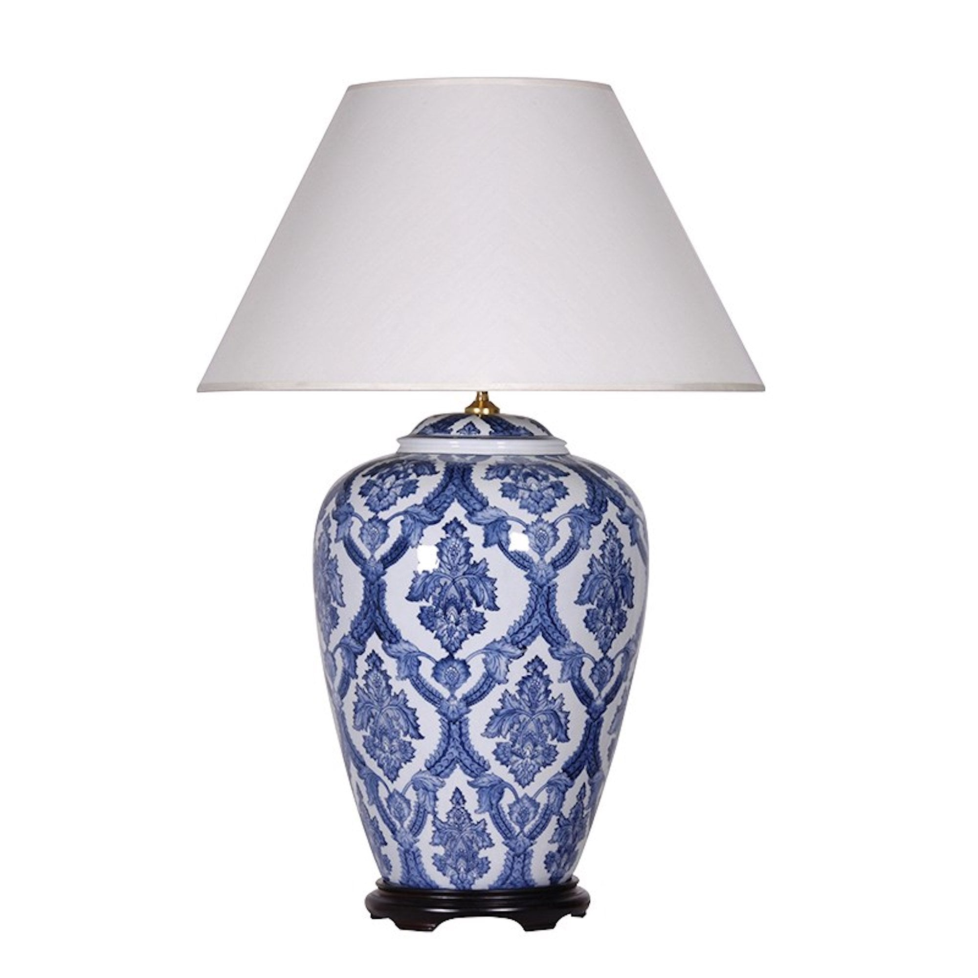 Blue White Ceramic Chinoiserie Table Lamp Bed Bath Home Travel From The Luxe Company Uk