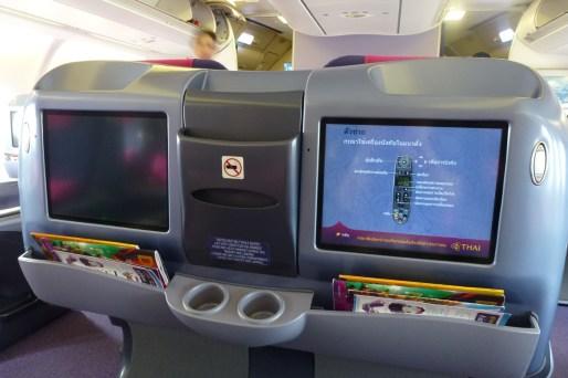 Thai Airways Business Class - Screen
