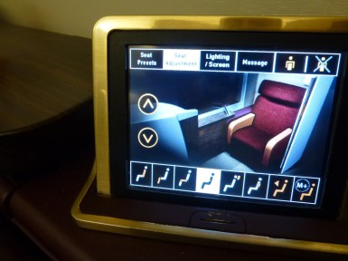 Thai Airways Royal First Class - Remote system for seat and entertainment