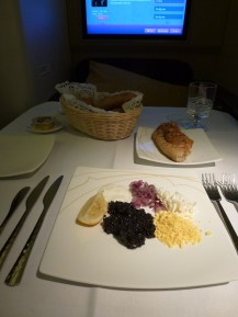Thai Airways Royal First Class - Caviar appetizers