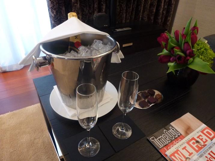 Bulgari London Knightsbridge Suite - Welcome Champagne