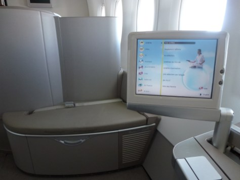 Air France First Class A380 - Entertainment