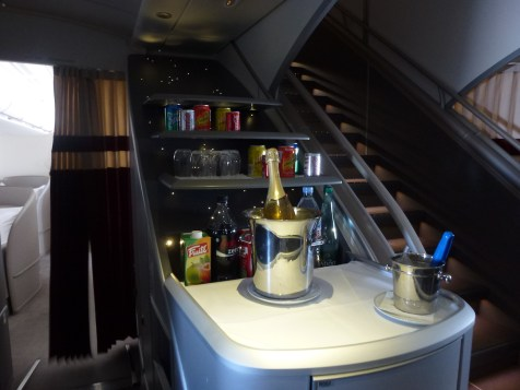 Air France First Class A380 - Free bar