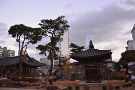 Seoul skyline from Bongeunsa