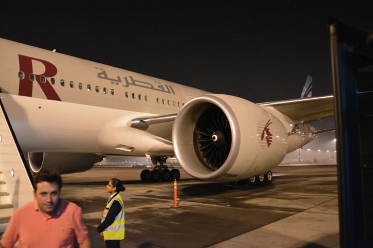 Qatar Airways Business Class - Arrival on premium bus