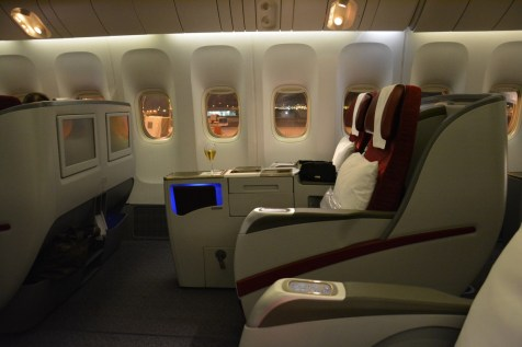 Qatar Airways Business Class - Seat by side