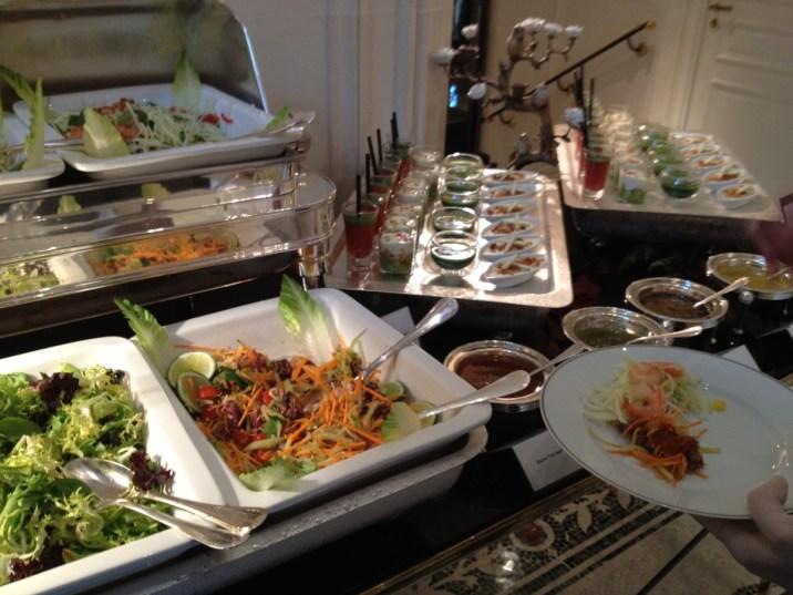 Shangri-La Paris - La Bauhinia brunch salad buffet
